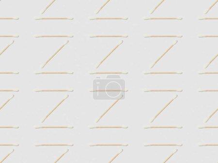 Foto de Palillos de oído de fondo gris, patrón de fondo transparente - Imagen libre de derechos