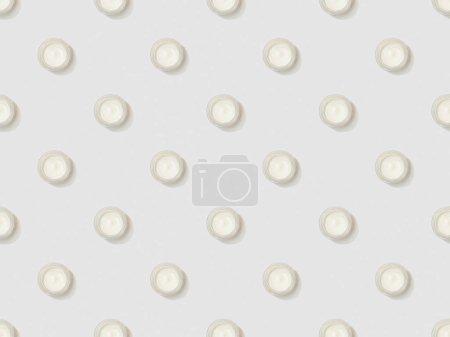 Photo pour Crème cosmétique dans des conteneurs sur fond gris, motif de fond transparente - image libre de droit