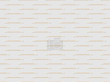 Photo pour Horizontalement, oreille colle sur fond gris, motif de fond transparente - image libre de droit