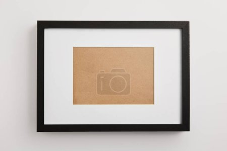 Photo for Black square frame on white background - Royalty Free Image