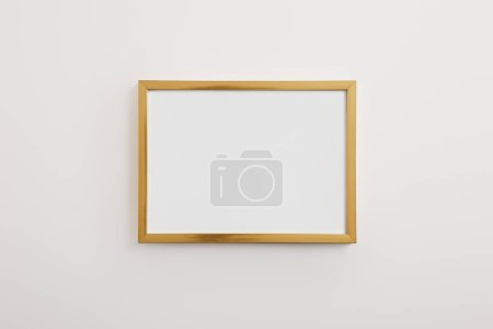 wooden square, decorative frame on white background