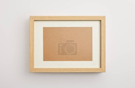 Photo for Wooden decorative frame on white background - Royalty Free Image