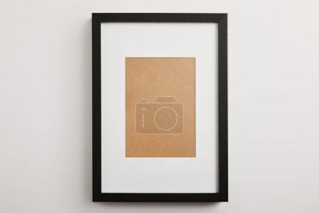 Photo for Black decorative frame on white background - Royalty Free Image