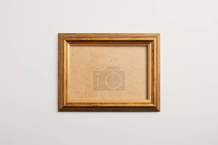 Photo for Wooden blank square frame on white background - Royalty Free Image