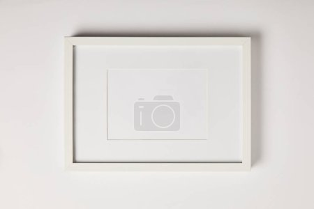 Photo for White mock up frame on white background - Royalty Free Image