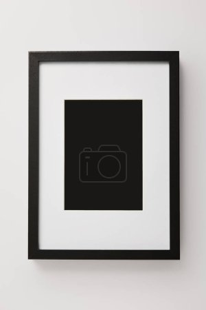 black decorative square frame on white background