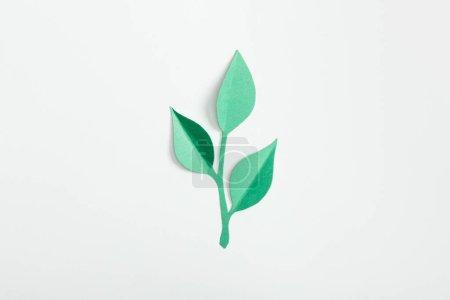 Photo pour Vue de dessus de la papeterie avec des feuilles sur fond gris - image libre de droit
