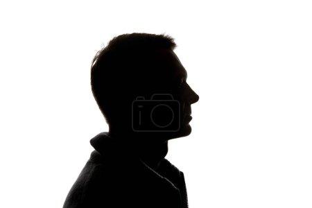 Photo pour Vue latérale de l'homme cher isolé sur blanc - image libre de droit