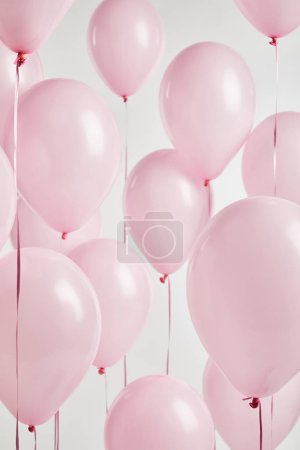 Photo for Background with decorative pink balloons isolated on white - Royalty Free Image