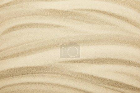 Photo pour Surface sablonneuse dorée et texturée sur la plage en été - image libre de droit