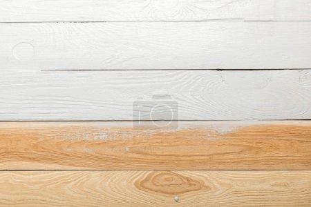 textured wooden background painted in white with copy space