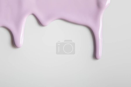 Photo for White background with purple flowing paint and copy space - Royalty Free Image