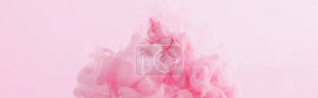 Photo for Close up view of pink paint swirls isolated on pink - Royalty Free Image