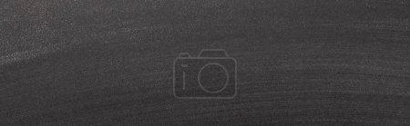 Photo pour Vue de dessus de fond texturé noir avec espace de copie, vue panoramique - image libre de droit