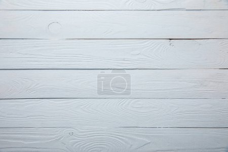 top view of white wooden textured background with copy space
