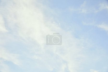 Photo for Peaceful light blue sky with white clouds and copy space - Royalty Free Image