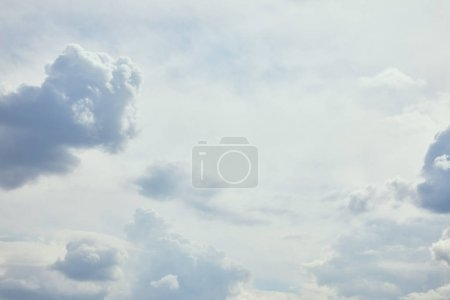 Blue sky with white clouds and copy space