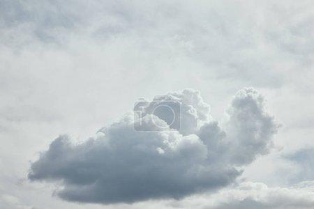 Photo pour Journée lumineuse avec des nuages sombres sur le ciel et l'espace de copie - image libre de droit