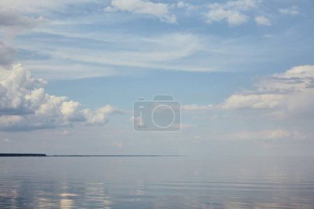 Photo for Landscape with river and clouds on blue sky - Royalty Free Image