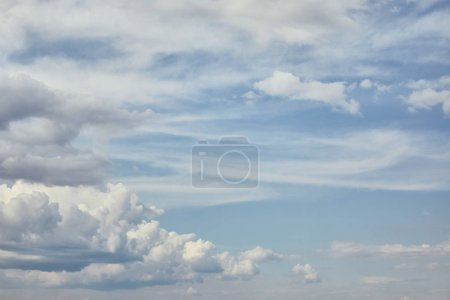 Peaceful white clouds on blue sky with copy space