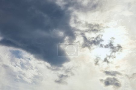 Sky with overcast, clouds and copy space