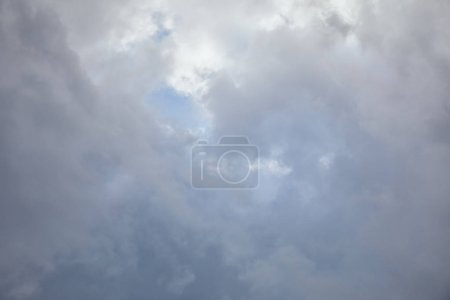 Photo for Blue sky with overcast clouds and copy space - Royalty Free Image