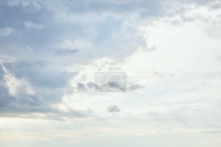 Photo for White sunlight sky background with blue clouds - Royalty Free Image