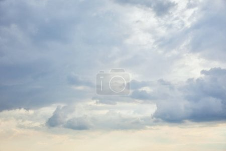 Photo for Blue clouds on white sunlight sky background and copy space - Royalty Free Image