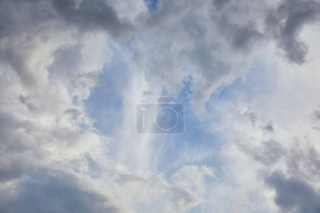 Photo for Blue sky background with grey clouds - Royalty Free Image