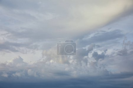 Photo for Blue clouds on white sunlight sky background - Royalty Free Image
