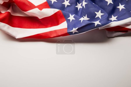 Photo for American flag on white background with copy space - Royalty Free Image