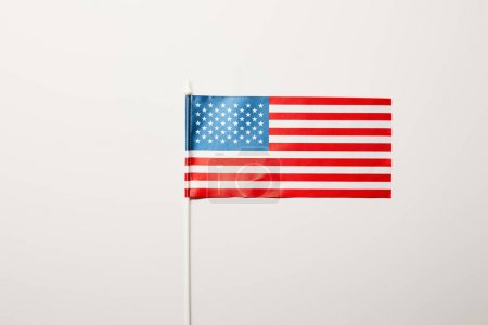 Photo for Top view of national usa flag on white background - Royalty Free Image