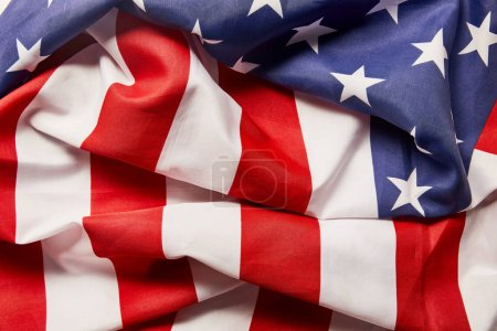Photo for Close up view of crumpled stars and stripes - Royalty Free Image