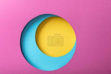 Foto de Fondo de papel creativo con círculos coloridos brillantes - Imagen libre de derechos