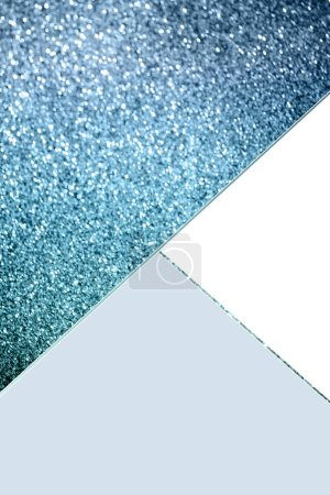 Photo for Geometric background with blue glitter, white and light blue colors - Royalty Free Image