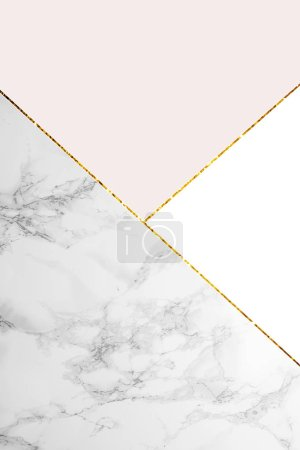 Photo for Geometric background with marble, white and light pink colors - Royalty Free Image