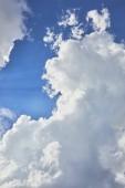 """Постер, картина, фотообои """"фон с голубое небо и белые облака"""""""