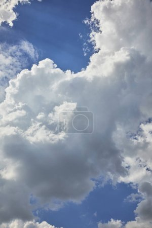 Photo for Background with blue sky and white clouds - Royalty Free Image