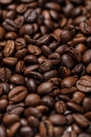 Photo for Close up view of delicious textured coffee grains - Royalty Free Image