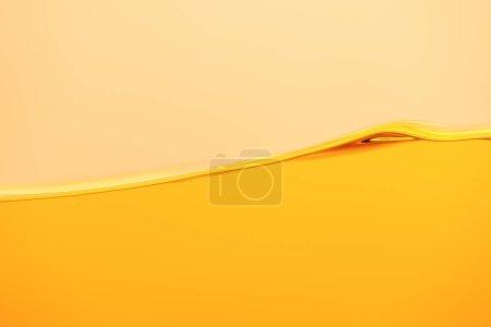 Foto de Onda líquida amarilla brillante aislada en amarillo - Imagen libre de derechos