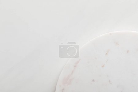 Photo for Clean light round marble surface on white background - Royalty Free Image