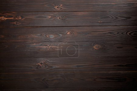 Photo for Top view of brown wooden surface with copy space - Royalty Free Image