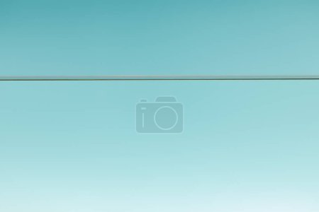 Photo for Clear transparent water on blue background - Royalty Free Image