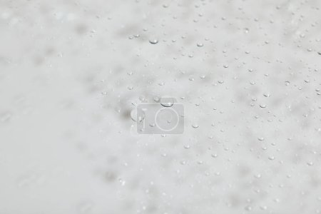 Photo for Clear transparent water drops on white background - Royalty Free Image