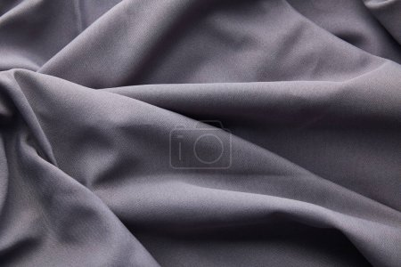 Photo for Background of grey crumpled textured cloth - Royalty Free Image