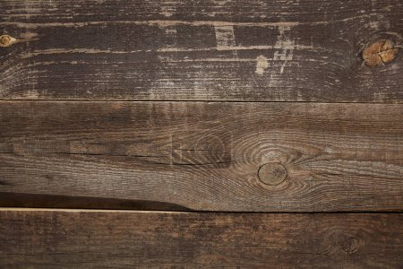 Photo pour Background of dark wooden textured surface with copy space - image libre de droit