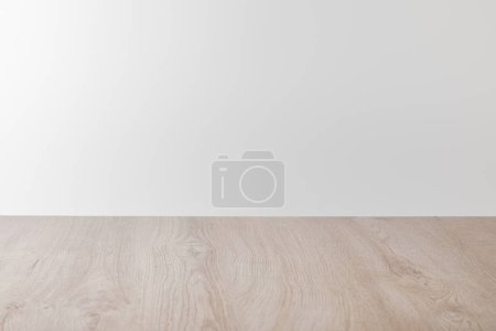 Photo for Wooden surface isolated on grey with copy space - Royalty Free Image