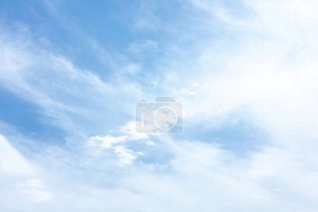 blue sky with clouds in summertime