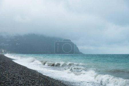 Photo for Storm on the Black Sea in Batumi, Georgia - Royalty Free Image