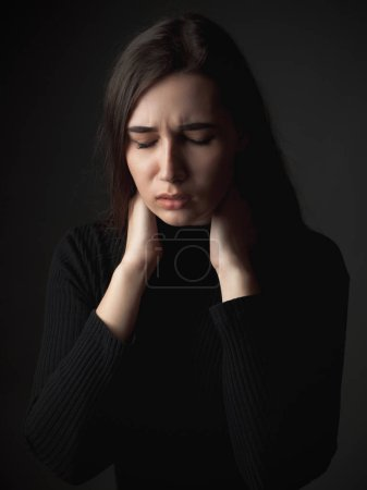 Photo for Portrait of the sad young woman. - Royalty Free Image